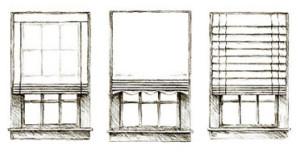 Пример конструкции и вида штор