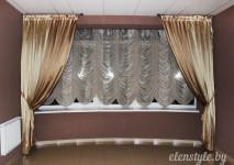статичная франзуская короткая штора в холл.