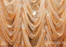 драпировка французской шторы из итальянской органзы.