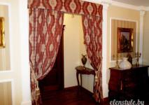 шторы в проем между комнатами. декоративный бленд и портьеры под кисть.