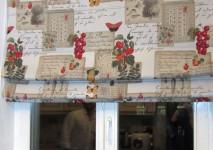 открытая римская штора в проем окна