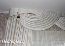 Элемент драпировки шторы и свага, выложенная вручную