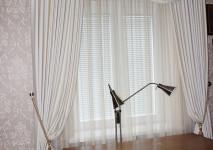 Комплект штор с ламбрекеном из испанской хлопковой жаккардовой портьеры